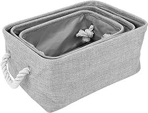 HomeStorie® Foldable Storage Basket Bins Organizer, Pack of 3