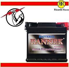BATTERIA BANNEK 45AH 390A 12V 545210=BOSCH 45AH 12V 0092S40010 + DESTRA