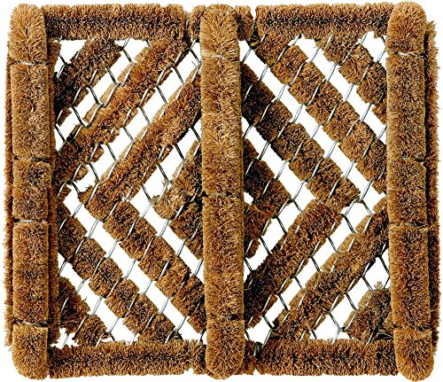 ID Mat Tapis Paillasson Coco, Acier, Beige, 31 x 35 cm