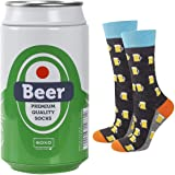 soxo Chaussettes Colorées d'homme Cadeau Drôle Dans une Canette de la Bière en Métal | Pointure 40-45EU | Chaussettee Fantais