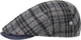 Lierys Coppola Zanetto Check Wool Uomo - Made in Italy Cappellino Lana Cappello Piatto con Visiera, Fodera Autunno/Inverno