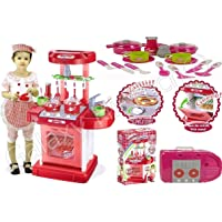 Galaxy Hi-Tech® Luxury Kitchen Play Set Super Toy for Kids, Big Size Portable Suitcase Shape Musical Kitchen Set Toy for…