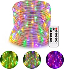 GreenClick 14m 120 LEDs RGB Lichterschlauch Batteriebetriben 8 Modi Fernbedienbar Wasserdicht IP68 LED Strip LED Lichterkette Schlauch Innen/Außen Garten Weihnachten Beleuchtung Party Mehrfabig