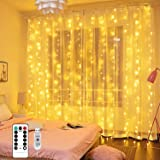 Curtain Fairy Lights - MUSUNIA 300 LED Fairy Lights for Bedroom, 3m x 3m Remote Control 8 Modes and Waterproof, Indoor Outdoo