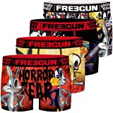 FREEGUN Calecon Boxer Homme Microfibre Looney Tunes (Lot de 4)