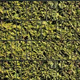 Sichtschutzstreifen zum Einflechten inkl. Klemmschienen Motiv Lebensbaum gelb