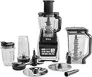 Ninja BL682EU2 3 in 1 Küchenmaschine (1.500 Watt, Smoothie Maker und Standmixer, Hochleistungsmixer mit Auto-iQ-Programmen un