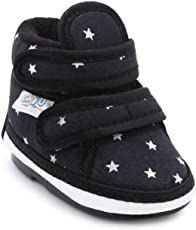 Chiu Chu-Chu Cotton Black Shoes With Double Strap For Baby Boys & Baby Girls