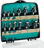 ENT 09012 12-tlg. DURACUT HM Fräser Set in bruchfester Kunststoffkassette - Oberfräser mit Schaft 8 mm