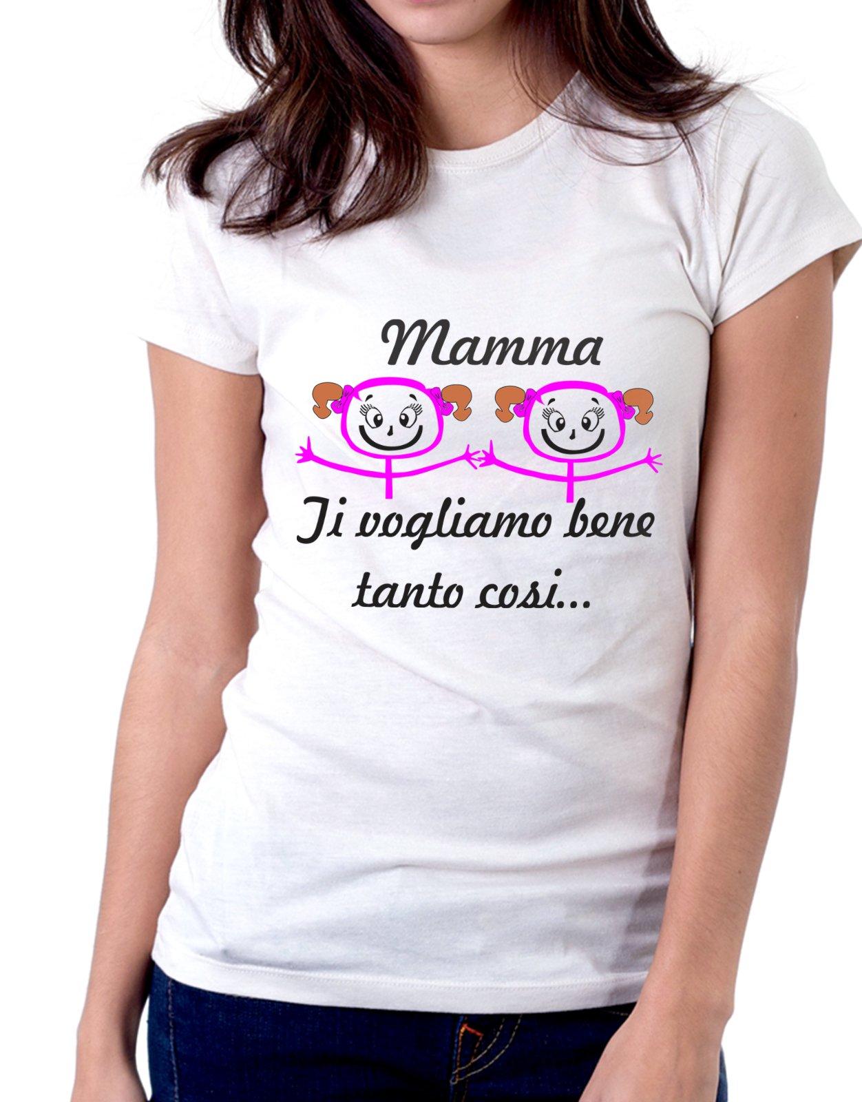 Tshirt mamma ti vogliamo bene tanto così - festa della mamma - Tutte le taglie by tshirteria