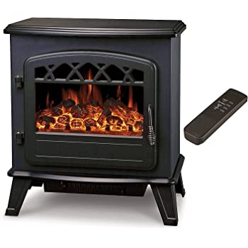 Galleon Firescastor Electric Log Effect Stove Fireplace With Remote Electronically Controlled Led System Led Flame Effect