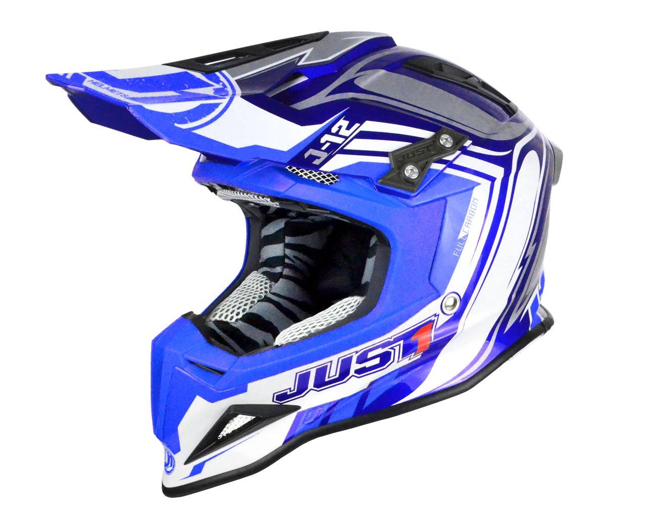 Just 1 Helmets - Casco Motocross J12, Blu, XS