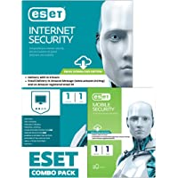 ESET Combo Pack: ESET Internet Security and ESET Mobile Security - 1 Device, 1 Year (Email Delivery in 2 Hours- No CD)