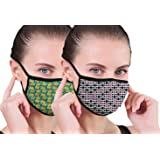 THE BLAZZE 2005 Women Anti-Dust Anti Pollution Reusable Washable Wind and Dust Proof Safety Dual Filter Face Mouth Mask…