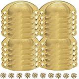 LESOLEIL 20 stuks vintage schelpgrepen - voor lade antieke ijzeren handgrepen voor keuken meubelknoppen goud