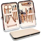 Kit Manucre Pedicure, 16pcs Kit de Manucure et Pédicure Professionnel, Ciseaux à Ongles Set de Soins du Visage et des Ongles