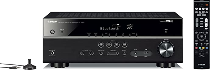 Yamaha RX-V485BL 5.1-Channel 4K Ultra HD AV Receiver with Wi-Fi Bluetooth and MusicCast Works with Alexa Black