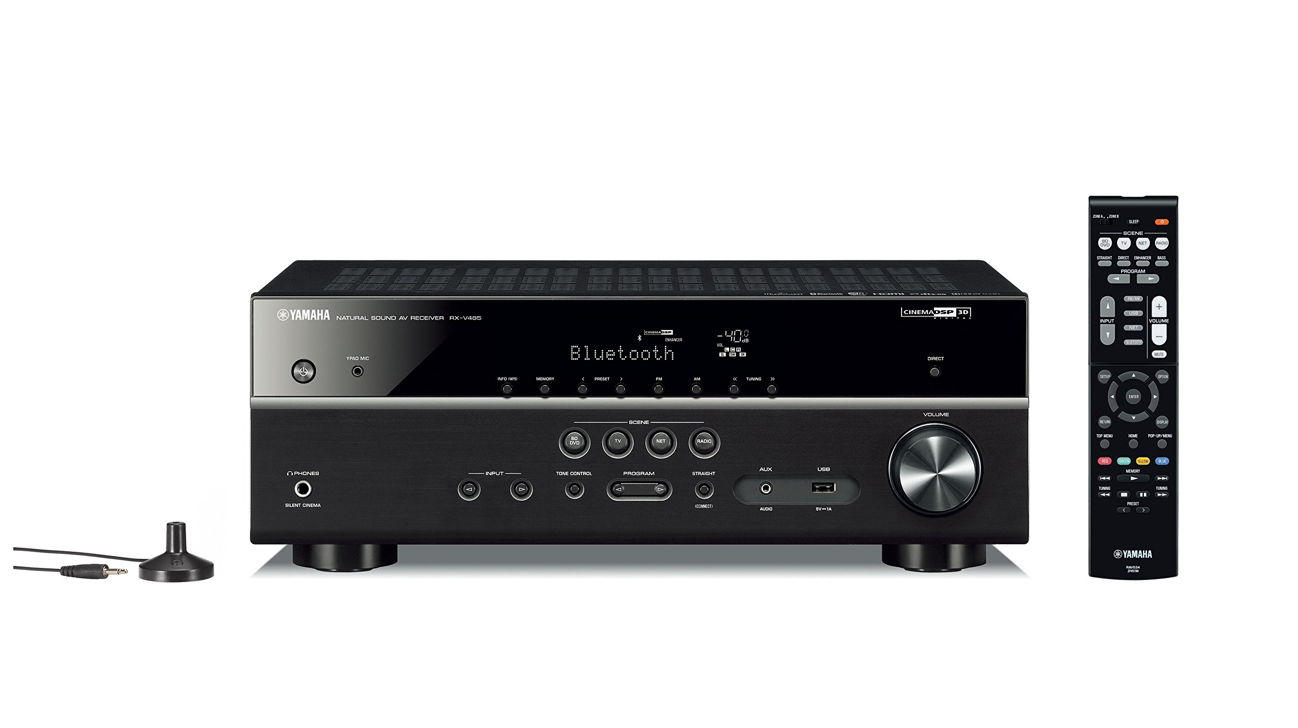 71IfxZIH2LL - Yamaha RX-V485 – Alexa compatible MusicCast AV receiver with Wi-Fi and Bluetooth – 5.1 Cinema Surround Sound – Black