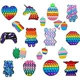 HuaMore Fidget Toys, fidjetoys Toy Anti Stress, Jeux Pas Cher, Multicolore popite fijets Toys entistesses Objet satisfaisant,