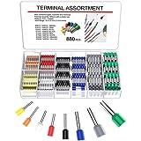 YoungRich Conectores Terminales Electricos Cable Kit con 8 Colores Crimpadora de Terminales con 880pcs Terminales Juego Aisla