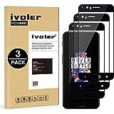 ivoler [Pack de 3] Verre Trempé pour Oneplus 5, [Couverture Complète] Film Protection en Verre trempé écran Protecteur Vitre