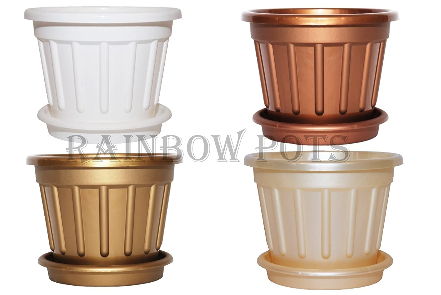 colour plastic plant pot decor flower pots wedding planters with