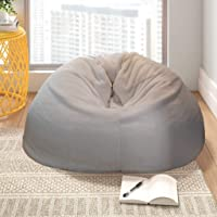 Mollismoons Bean Bag White Fur XXXL Size Without Beans Very Attractive And Luxury fur and leather Bean Bag