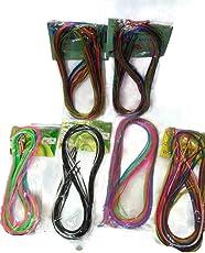 Naarilok Glitter And Normal Strings - Set Of 6 (Multicolour)