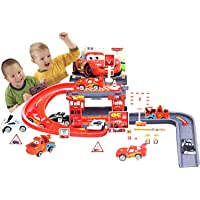 WP Racing Track with Toy Cars Racing Track 29 PCs Parking Garage for Kids Toy