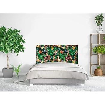 Tete De Lit Plantes Exotiques Avec De Fleurs Tropicales Colibri Et