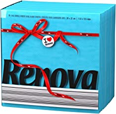 Renova Paper Napkins - Blue, Extra Soft and Absorbent Paper, First Time in India