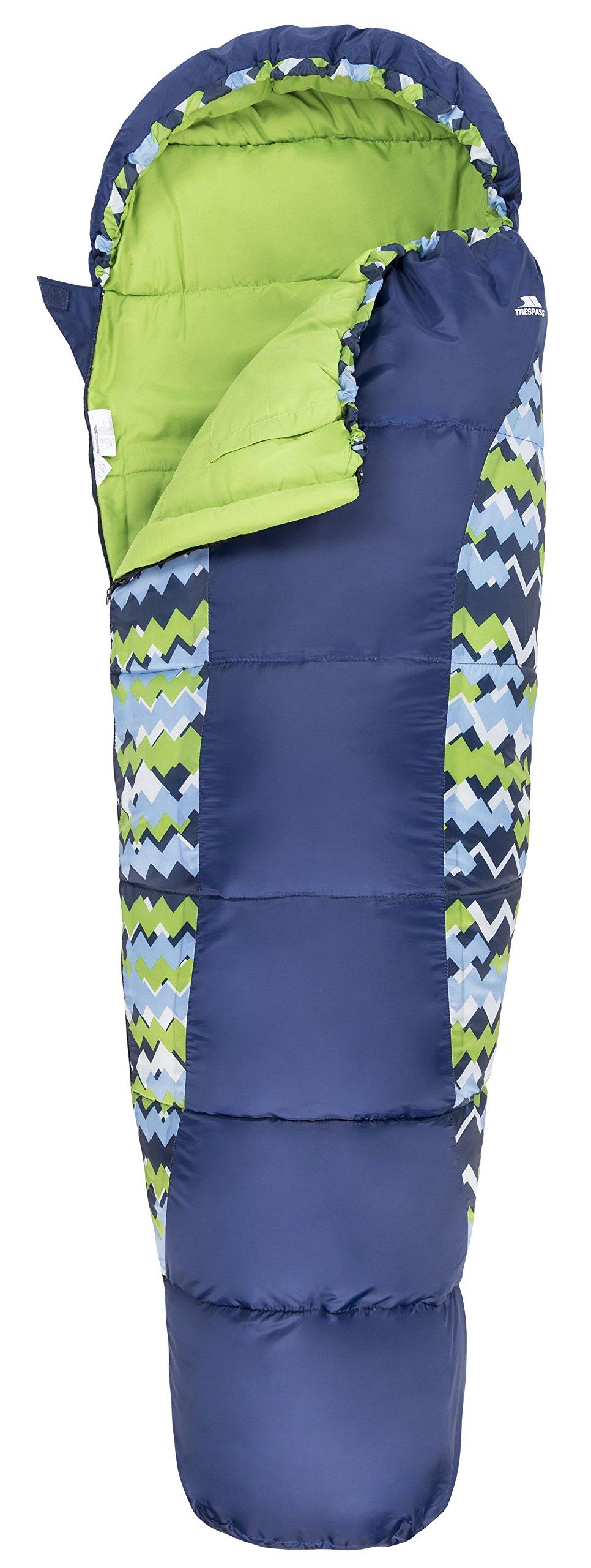 Trespass Unisex Child BUNKA 3 Season Sleeping Bag with Hollow Fibre Filling 4