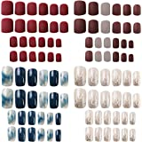 Falsche Nägel,Künstliche Nail Tips,96 Stück Künstliche Fingernägel Natürliche Falsche Kunst Volles Sarg Nägel Tips für…