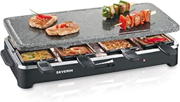 Severin RG 2343 Raclette Partygrill con pietra naturale, 1,500 W