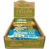 BodyMe BIOLOGISCH Veganistisch Proteine Bar | Gemengde Doos | 12 x 60g Vegan Protein Bars | 16g Compleet Eiwit | Glutenvrije