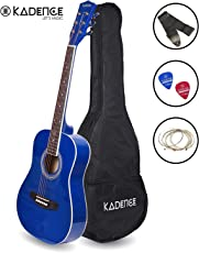 Kadence Professional Kids Guitar 8-13 Years Dark Blue with Bag, Strap, Strings and Picks