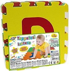 Teorema 72464 - Tappeto Puzzle con Lettere, 9 Pezzi, Colori e Lettere Assortiti