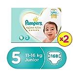 Pampers Premium Care Junior Diapers, Size 5, Dual Pack Mega Box - 11-18 Kg, 168 Count