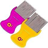 O³ Läusekamm // 2 Stück // Kinder und Erwachsene // Läuse und Nissenkamm für Kopfläuse // Lice Comb