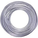 NBEADS 1 rol aluminium ambachtelijke draad zilver voor sieraden maken Diy handmatige kunst en ambachten - 3mm x 25M (diameter