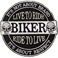KUSTOM FACTORY - Patch Live to Ride to Live Skull Teschio