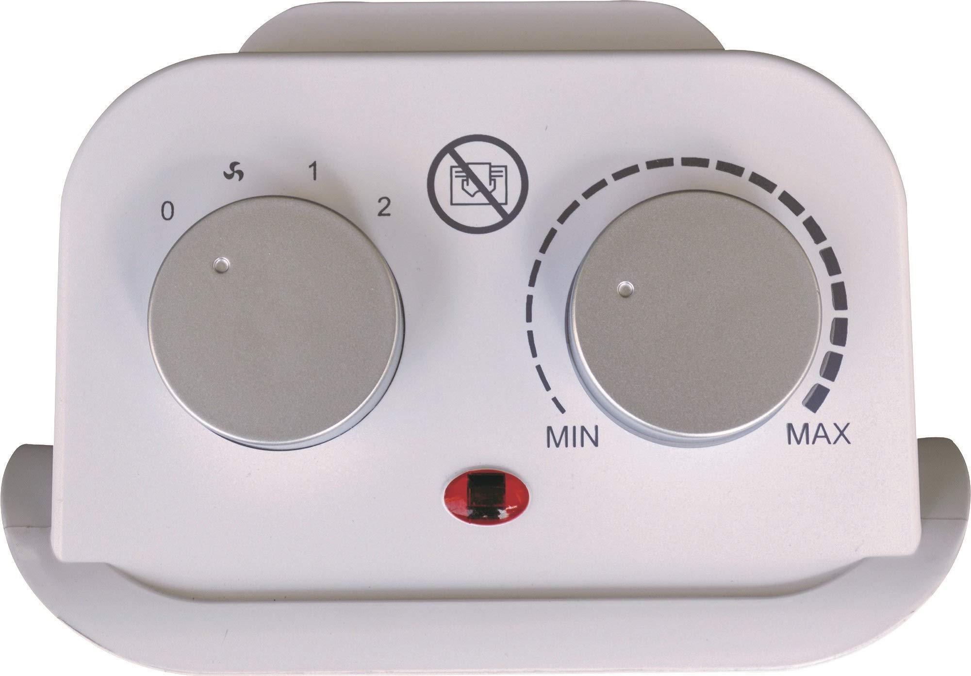 Argo-Boogie-Plus-Termoventilatore-Ceramico-a-Torre-2-Modalit-di-Riscaldamento-Eco-e-Comfort-BiancoArgento