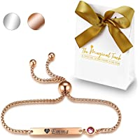 TMT® Personalised Birthstone Bracelets Gift for Birthday Friendship Mum Auntie Sister 18th 21th 30th 40th 50th 60th 16th…