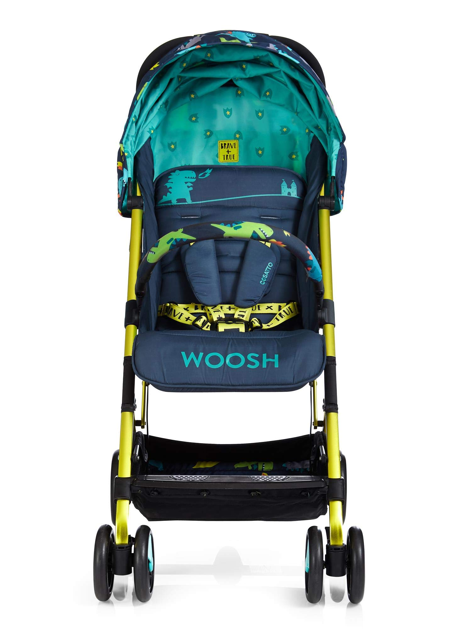 Cosatto CT4253 Woosh 2 Dragon Kingdom 7.2 kg Cosatto Suitable from birth to max weight of 25kg, lets your toddler use it for even longer Lightweight, sturdy aluminium frame New-born recline 4