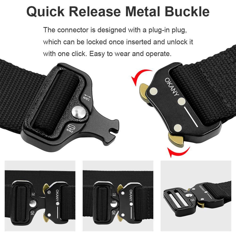 buon servizio prezzo imbattibile ineguagliabile Cintura Tattica da Uomo Resistente Cintura Militare Fibbia Cobra Cintura di  Salvataggio Resistente al Nylon per la Caccia di Campeggio All'aperto