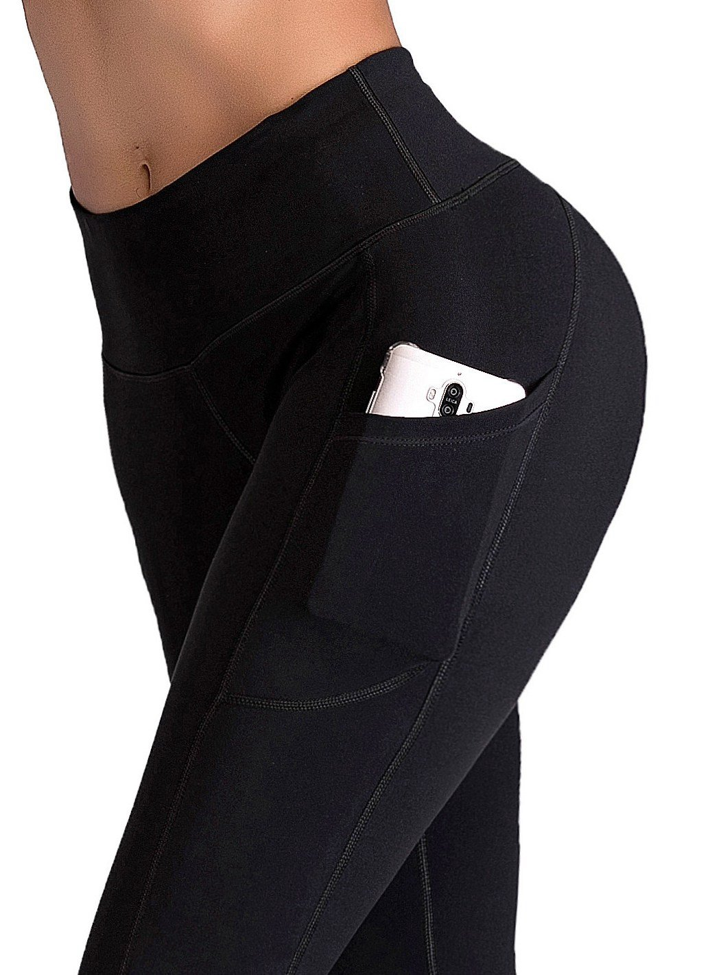 71Im2HgLvRL - IUGA Yoga Pants with Pockets, Workout Running Leggings with Pockets for Women