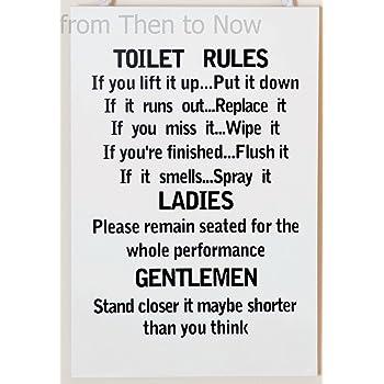 Funny Tiolet Notice Large Metal Steel Wall Sign Keep Bathroom Clean