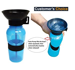 orange creations Outdoor Portable Dog Water Bottle for Pet, 500 ml