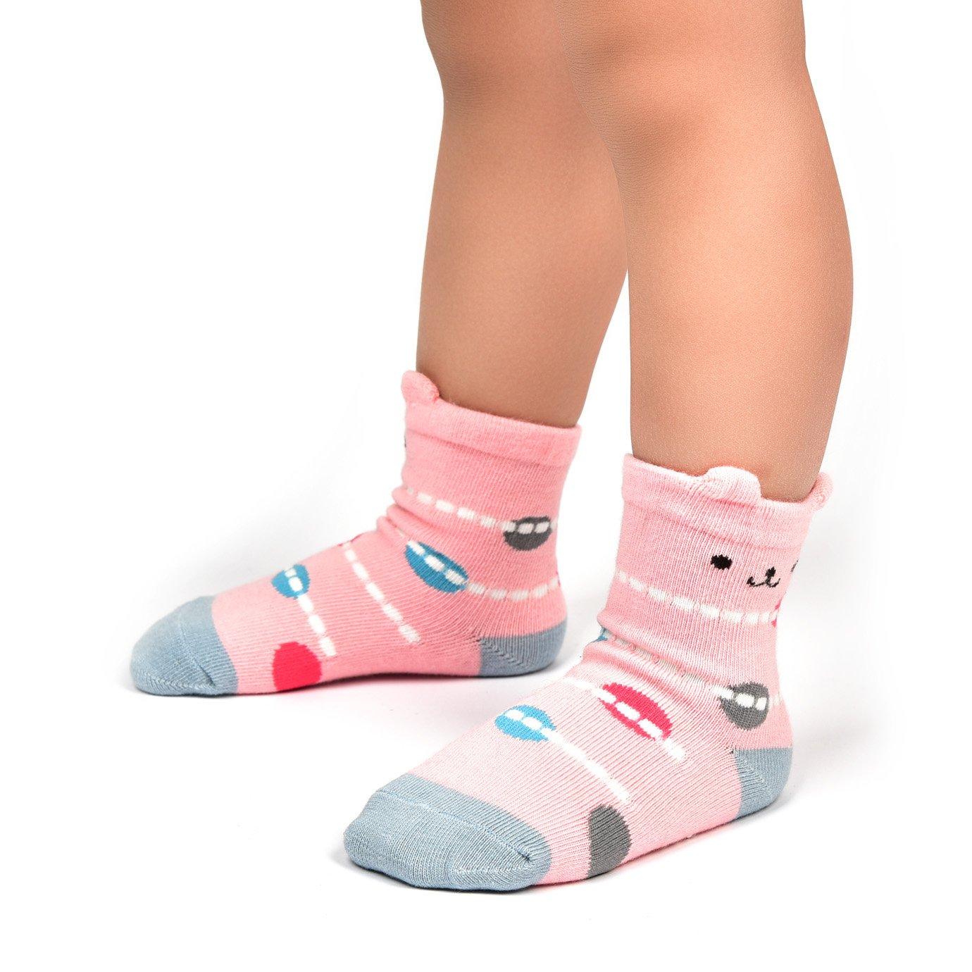 Adorel Calcetines Antideslizantes para Beb/é Ni/ños Lote de 12