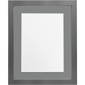 FRAMES BY POST H7 Picture Photo Frame, Wood, Silver with Dark Grey ...